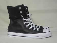 CONVERSE ALL STAR X-HI LEATHER BLACK SNEAKERS WOMENS SIZE 6  / MENS SIZE 5