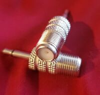 """2pc. New 3.5mm 1/8"""" Mono Male plug to F-Type  Female Jack Adapter Connector. USA"""