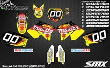 Suzuki RM 125 250 2001-2012 motocross graphics kit RM 250 MX decals stickers kit