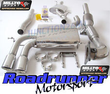 Milltek Audi S3 8P Exhaust Sportback Turbo Back Resonate & Downpipe Cat SSXAU199