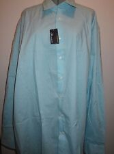 JA John Ashford Easy Care Men;s Long Sleeve Shirt 2XLT Light Blue