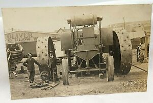 1920's South Bend Indiana Oliver Plow Works Huge Steam Engine Prototype RPPC