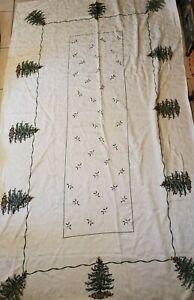 """Spode christmas tree tablecloth 100""""x57"""""""