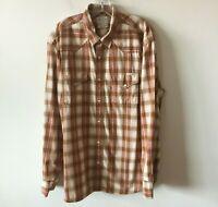 Lucky Brand Plaid Western Shirt Pearl Snaps Long Sleeve Men's XXL 2XL NWOT