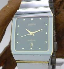 Original Rado Diastar Unisex Uhr in HTC und Edelstahl vergoldet