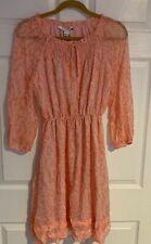 Diane Von Furstenberg Size 4 Coral Elastic Waist Chiffon Silk Dress NWT $448