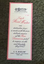 Bath & Body Works C.O Bigelow Formula #003 Triple Rose Water 8 oz Glass *New*