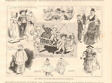 1893 ANTIQUE PRINT -ART - THE TRUTH TOY AND DOLL SHOW