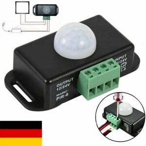 1/2x DC 12V / 24V 8A Koerper Infrarot PIR Bewegungsmelder Schalter LED Lichtle
