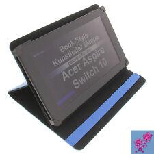 Funda pedrería Flor para Acer Aspire Interruptor 10 Tablet Libro AZUL