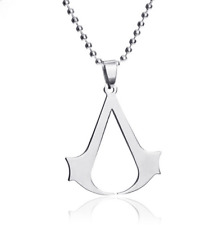 Fashion Love Womens Men Silver 316L Stainless Steel Titanium Pendant Necklace @