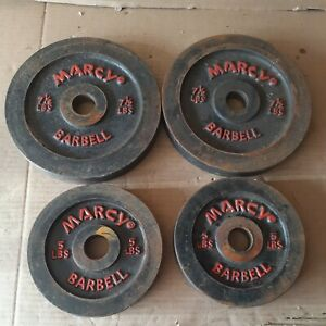4-Vintage Marcy Barbell/Dumbbell Weight Plates 2-7 1/2lb, 2- 5lb