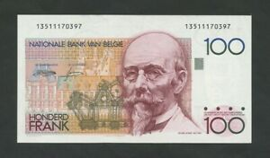 BELGIUM 100 francs 1982 Krause 142  About Uncirculated  Banknotes