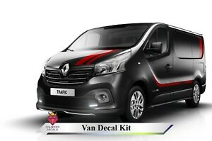 RENAULT TRAFIC VAUXHALL VIVARO STYLE SPORT VINYL GRAPHICS KIT ANY COLOUR
