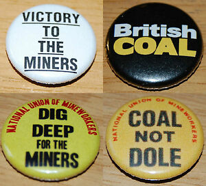 COAL NOT DOLE Button Badge 25mm / 1 inch MINER'S STRIKE 80s SCARGILL