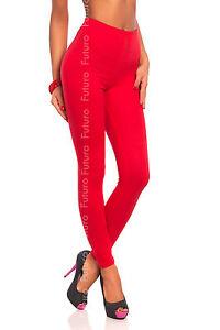Lungo Rosso Cotone Premium Leggings Comodo & Elasticizzato Pantaloni Taglie 8-22