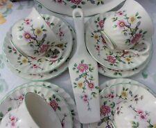 Vintage Tea set 14 Pc ~ Old Foley Chinese Rose Cups Saucers Plates Cake Slice