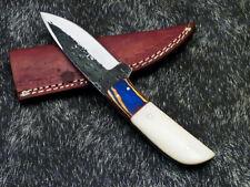Custom Hand Forged Railroad Spike Carbon Steel Fixed Skinning Blade Knife 1167