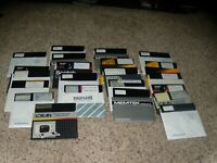 """Lot of 22 Commodore 64 Disks containing over 100 games on 5.25"""" disks"""