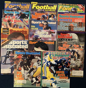 Chicago Bears Covers Lot (17) Sports Illustrated And Beckett Walter Payton