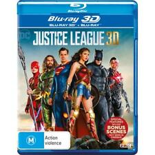 DC Justice League Blu-ray 3D + 2D BRAND NEW SEALED Region B FREE POSTAGE