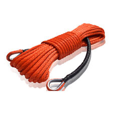 Orange 3/8inch*85ft Winch Rope Extension,Synthetic Winch Cable UTV SUV Off-road