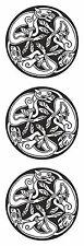 2x Stickers Autocollant Vinyle chiens celtique religieuses voiture moto