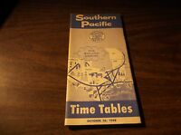 OCTOBER 1958 SOUTHERN PACIFIC SYSTEM PUBLIC TIMETABLE
