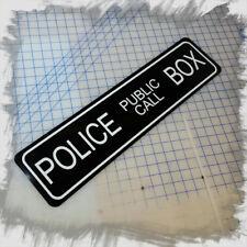 "Dr Who Police Call Box TARDIS 6""x24"" Aluminum Sign"