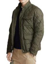 NWT $268-POLO RALPH LAUREN Men's Diamond Quilted Jacket Coat Leather Patch-Sz XL