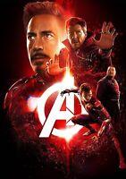 AVENGERS; INFINITY WAR Movie PHOTO Print POSTER Film Art Iron Man Spider-Man 010