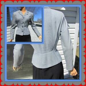 NWT 80/'s does 40/'s Leather detailed Fitted Blazer CLEARANCE 40/'s Style Designer Fitted Peplum Fitted Blazer Sz 910