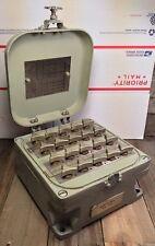 VTG US NAVY Sound Powered Telephone SWITCH BOX By Stromberg Carlson