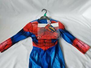 Marvel Avengers Spiderman Full Costume 5-6yrs Fancy Dress Spider Man Rubie's