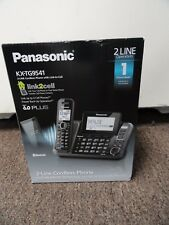 New Panasonic KX-TG9541 KX-TG9541B 2 Line Cordless Bloutooth Link to Cell Phone