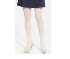 Nordstrom Scalloped Net Pink Creole Women's Tights Sz S/M 1907