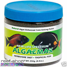 New Life Spectrum AlgaeMAX 250 gram 1mm Fish Food Pellet Free USA Shipping