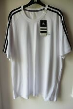 Adidas New White T-Shirt Climalite Size L With Back Logo New With Tags Tu40