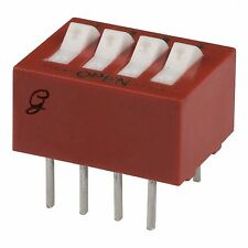 GRAYHILL 76SB04S Switch DIP ON OFF SPST 4 Raised Rocker 8-Pin Dip Qty-10