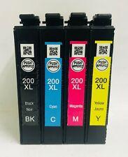 Epson Genuine 200XL Black & Color 4pk of Ink for WF-2520 WF-2530 WF-2540 - NT