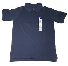 NEW. George Boys Navy Blue Short Sleeve School Uniform Polo Shirt Size 8 Med