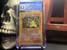 * Charizard * 4/102 Base Set Unlimited Holo Rare Pokemon Card 1999 Wotc Cgc 5.5