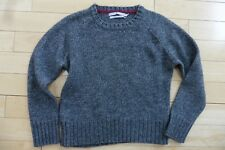 Tommy Hilfiger Large Sweater Gray Wool Alpaca Acrylic Woman's warm cozy Petite ?