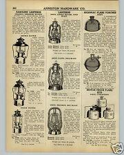 1942 PAPER AD Gas Gasoline Coleman Lantern Dietz Cold Blast Road Flare