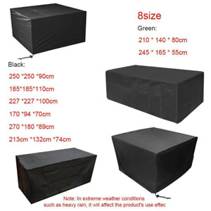 Furniture Cover Covers Rattan Table Cube Outdoor Large Waterproof Garden Patio