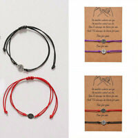 Bracelet Travel Compass Friend Gift Card Wish You Me Promise Charm Lover Couple