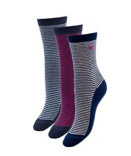 BOGO HUE Womens Roll Top Shortie Socks Candy Pink Stripes U19068 OSMF Free Ship
