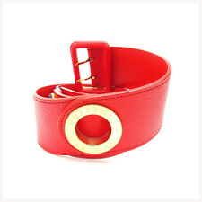 Louis Vuitton belt Red Gold Woman Authentic Used Y1570