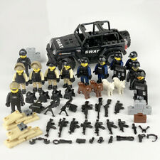 SWAT CAR POLICE Military Mini figures Weapon Army SSSoldier Fit Lego