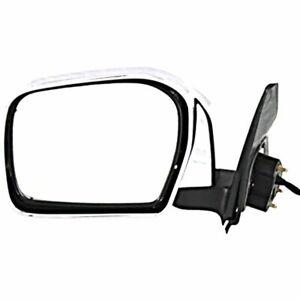 Fits 01-04 Tacoma Left Driver Mirror Assembly Chrome, Power, Manual Folding